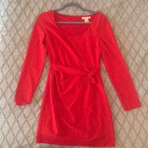Red Mini Wrap Dress